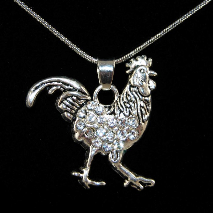 Kette - Huhn Strass